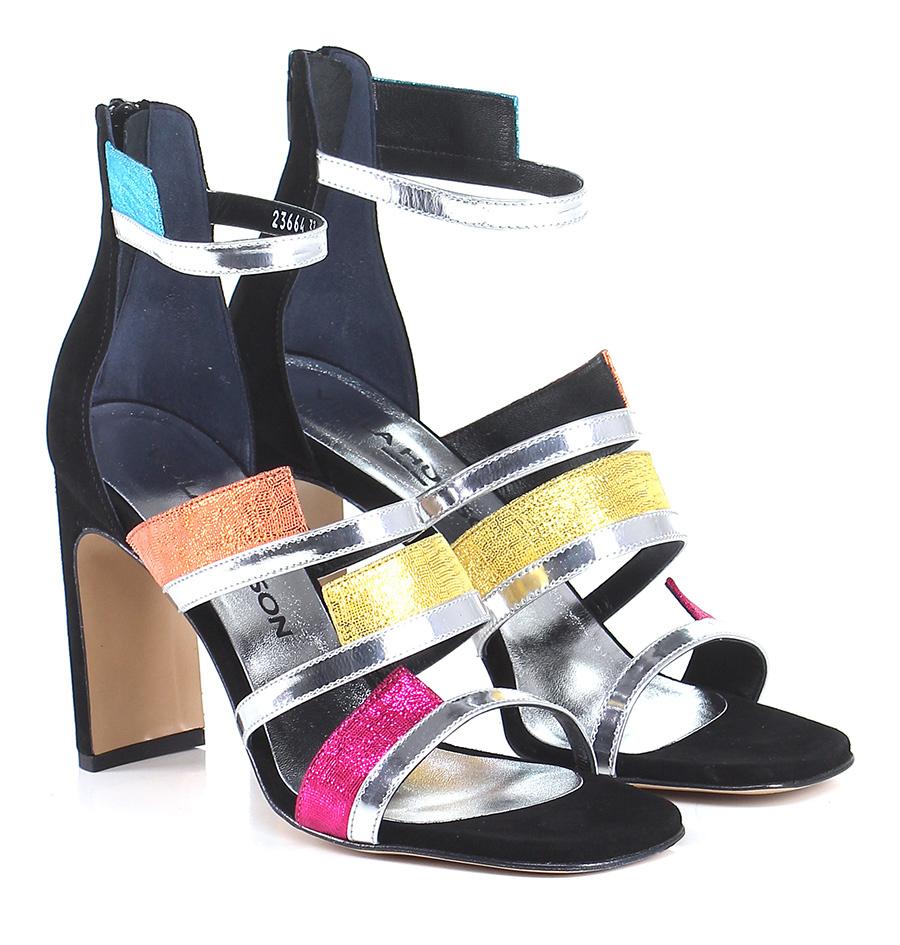 Sandalo alto  Nero/argento/multicolor Viola Hudson