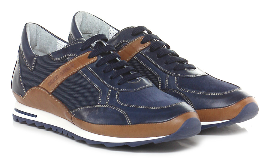 Sneaker Blu/cuoio Galizio Torresi
