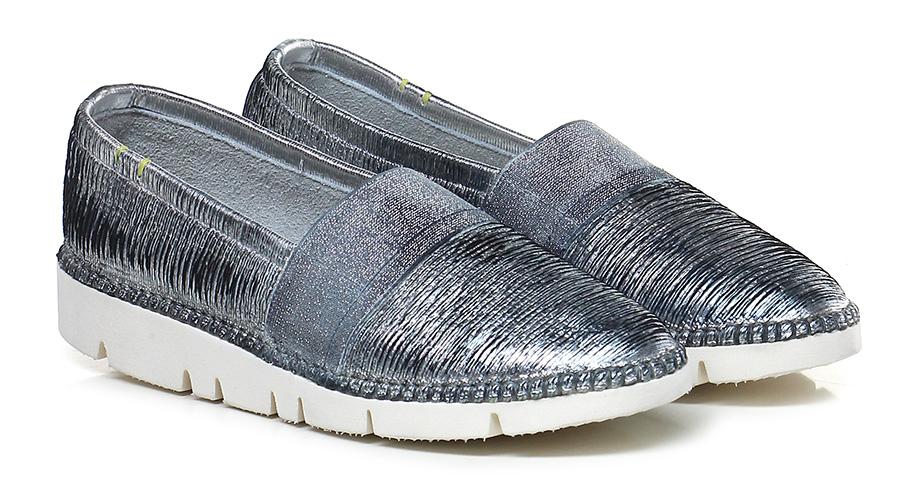 Scarpa bassa Argento Emile Verschleißfeste billige Schuhe