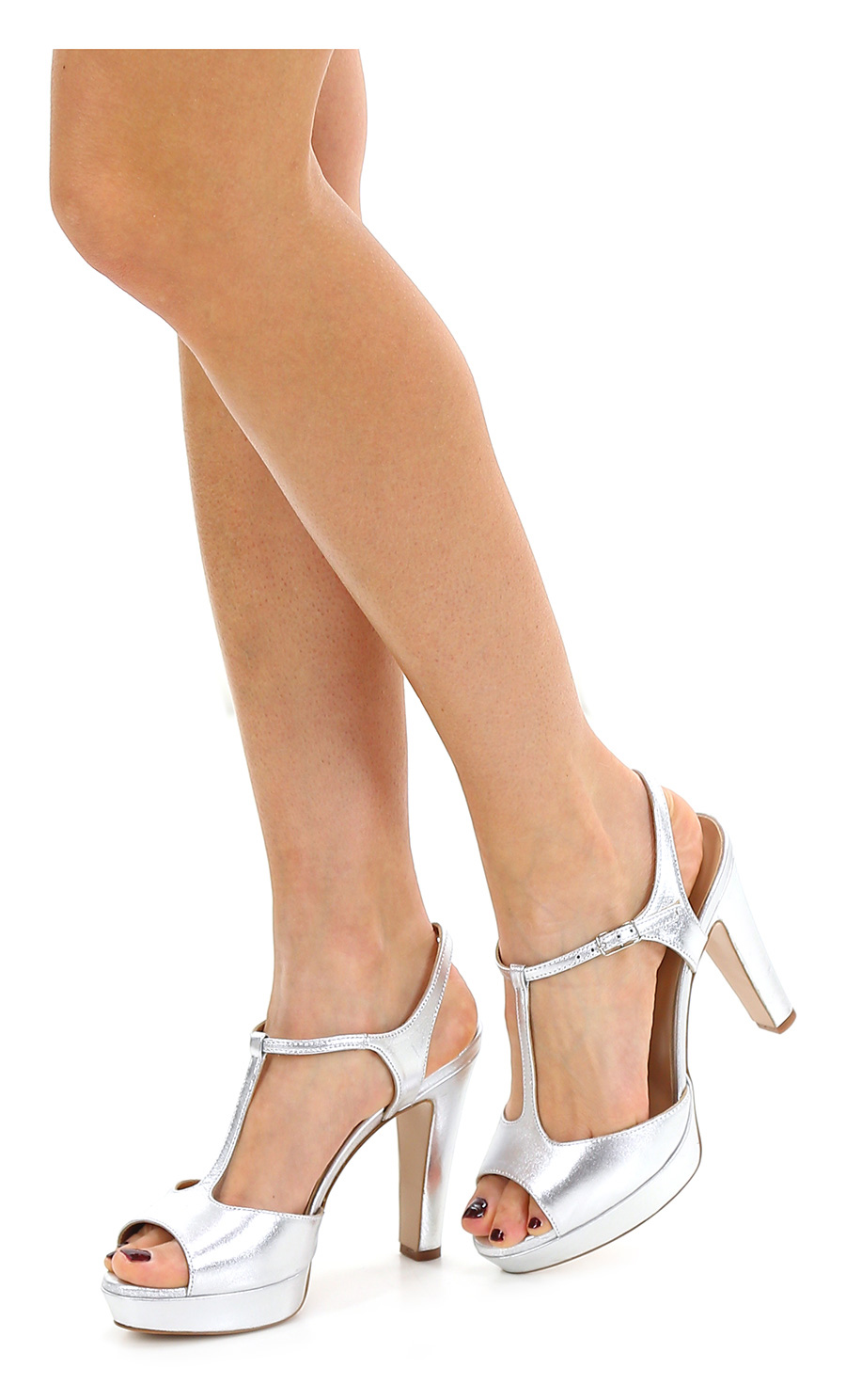 Sandalo alto Argento Alexandra - Le Follie Shop 3a236258b71