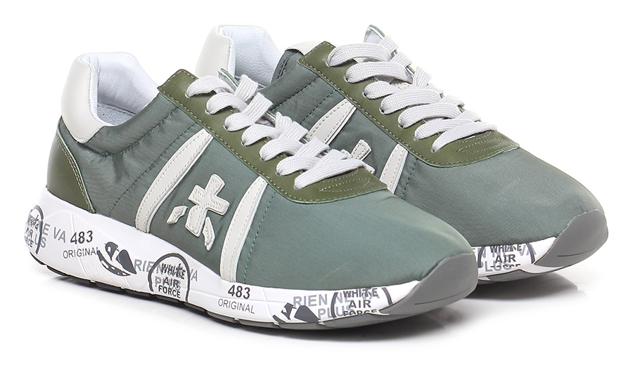 Sneaker 2912 green/ivory Premiata Mode billige Schuhe