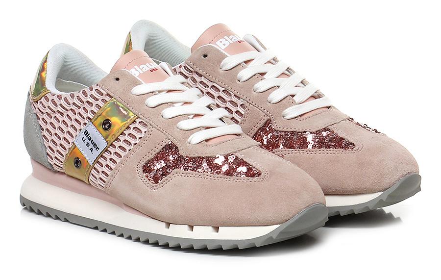 Sneaker Pink/grey Blauer Verschleißfeste Verschleißfeste Blauer billige Schuhe ba7b3e