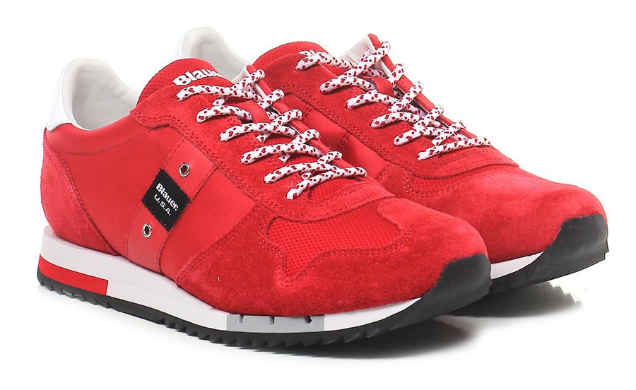Sneaker Red Blauer Verschleißfeste billige Schuhe