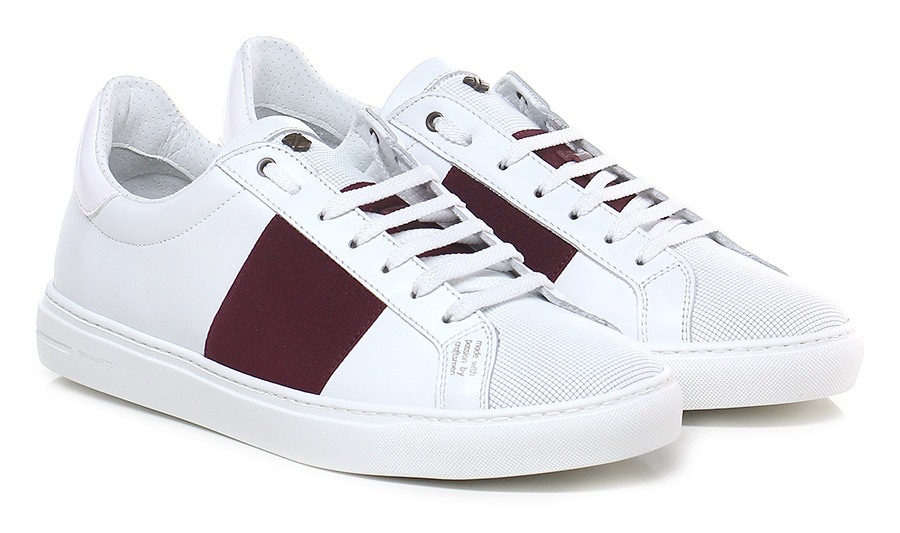 Sneaker Bianco/bordeaux Brimarts Mode billige Schuhe