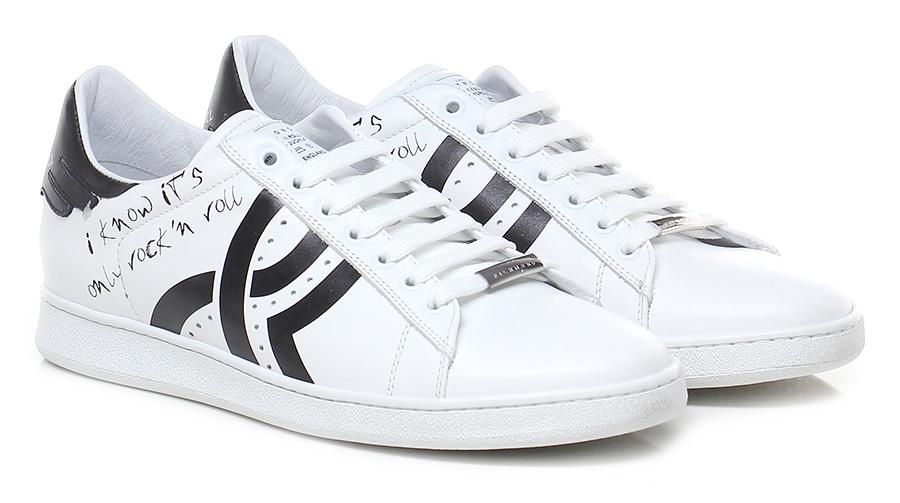 Sneaker White/black John Richmond Verschleißfeste billige Schuhe