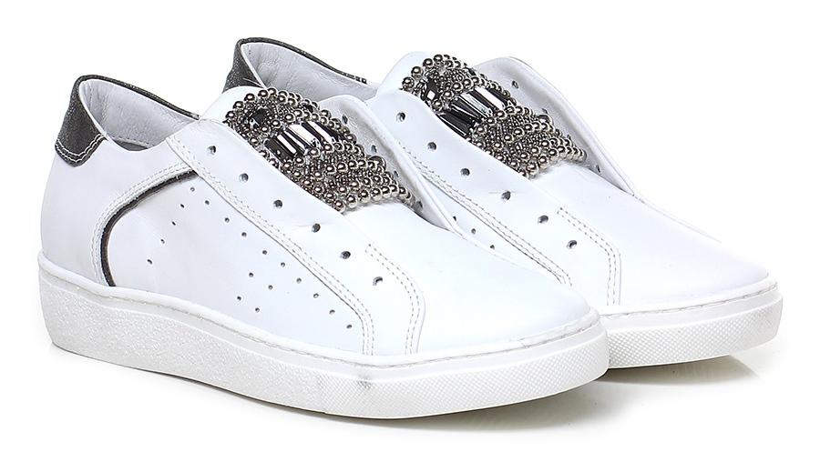 Sneaker Bianco Soigne' Verschleißfeste billige Schuhe