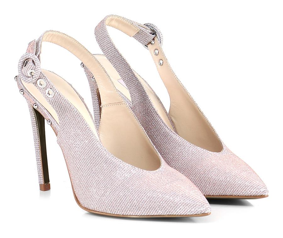 Scarpa con tacco Argento/rame Couture