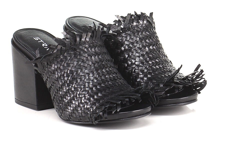 Sandalo alto Nero Strategia Verschleißfeste billige Schuhe