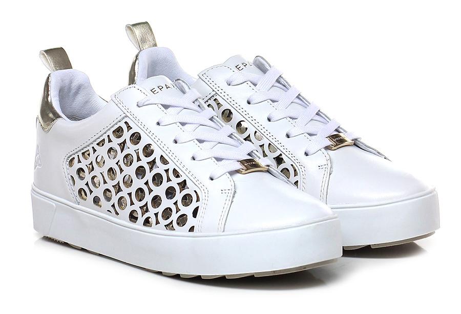 Sneaker Bianco/platino Apepazza Verschleißfeste billige Schuhe