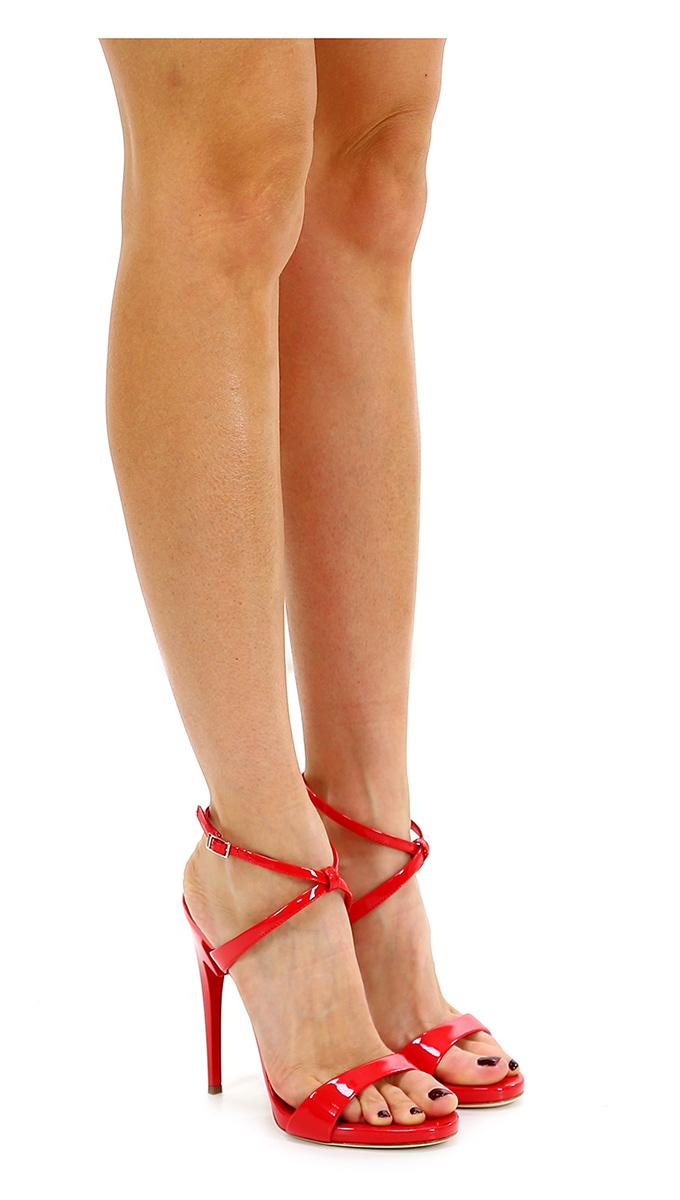 Sandalo alto Rosso Giuseppe Zanotti Hohe Qualität