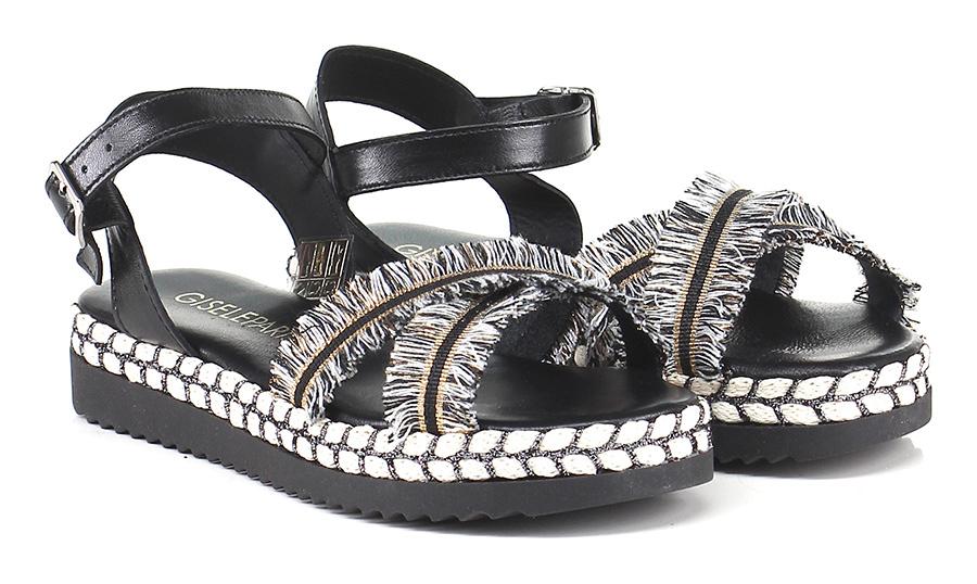 Sandalo basso Nero/argento Gisele Paris