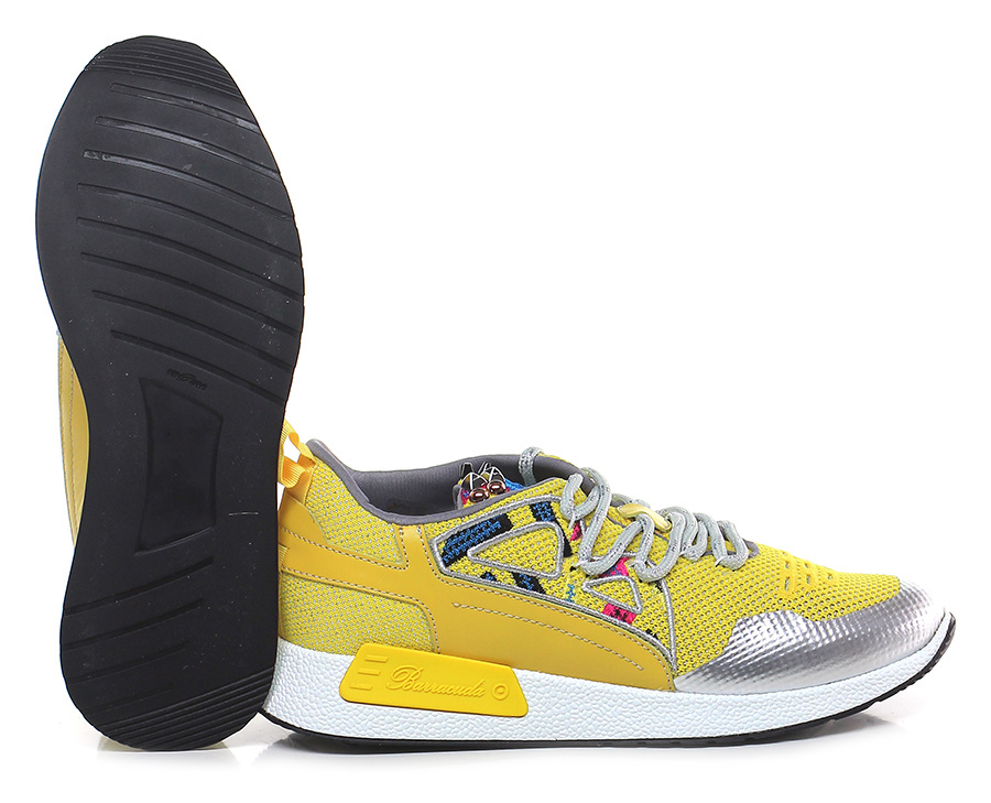 Sneaker Giallo/argento Barracuda Verschleißfeste billige Schuhe