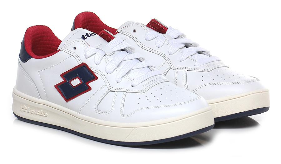 Sneaker White/blue/red Lotto Leggenda Verschleißfeste billige Schuhe