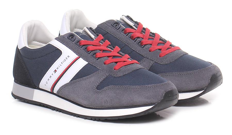 Sneaker Midnight/grey Tommy Hilfiger Verschleißfeste billige Schuhe