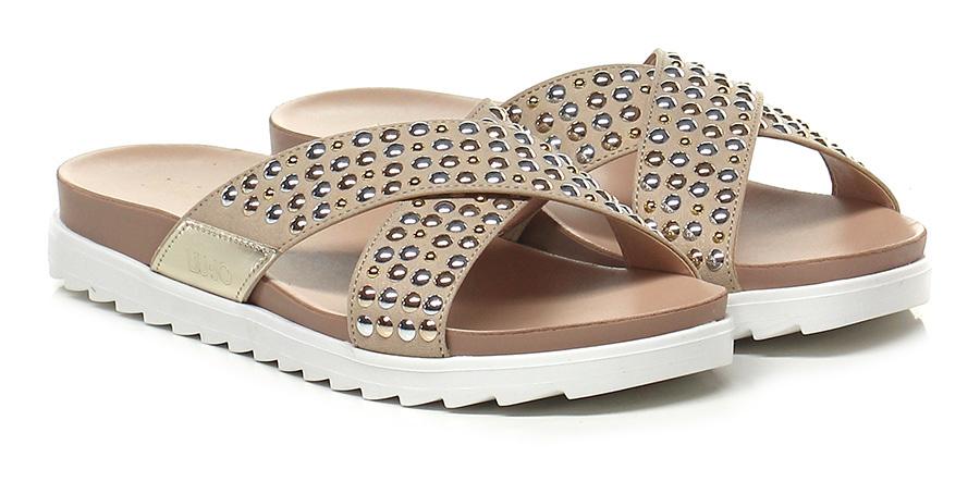 Sandalo basso Sabbia/oro Liu.jo Mode billige Schuhe