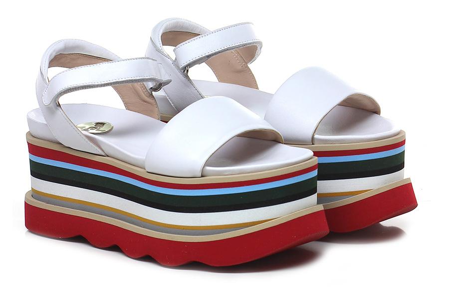 Zeppa Bianco/multicolor RAS  Mode billige Schuhe