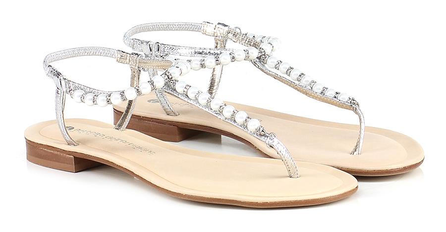 Sandalo basso basso basso Argento/bianco Bottega Dell'artigiano Mode billige Schuhe c8ecf3
