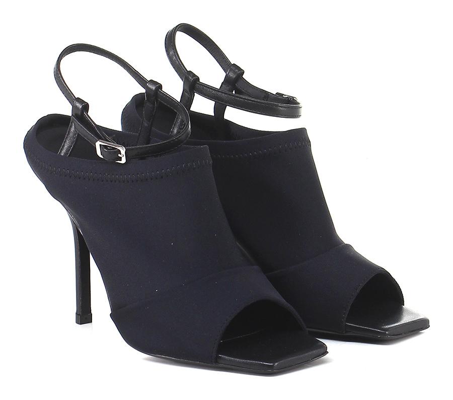 Sandalo alto Nero Angelachiara Venezia Hohe Qualität