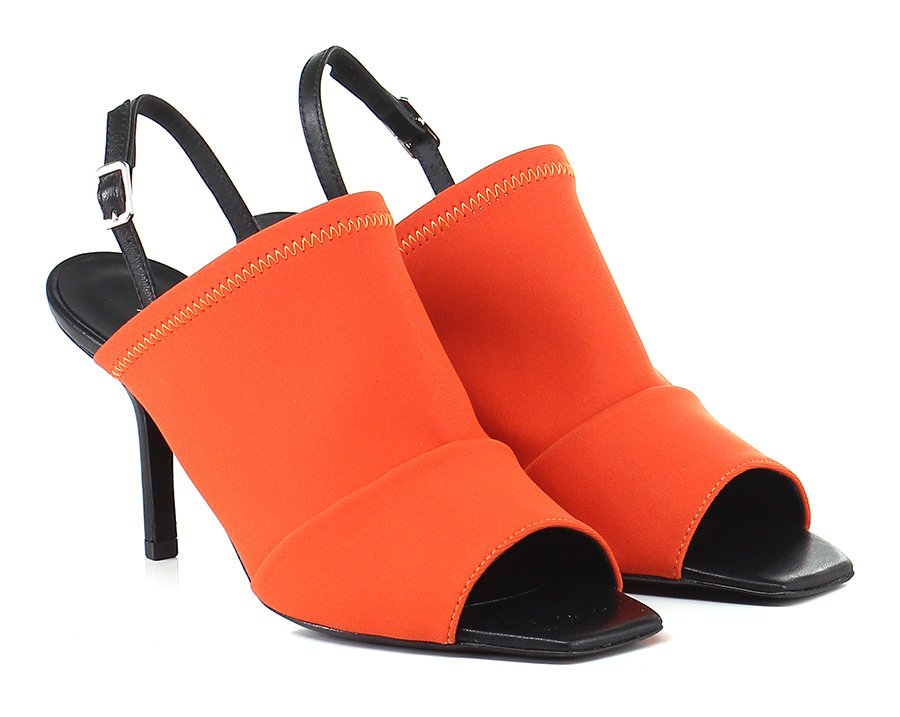 Sandalo alto Arancio/nero Angelachiara Venezia Venezia Venezia 7aee25