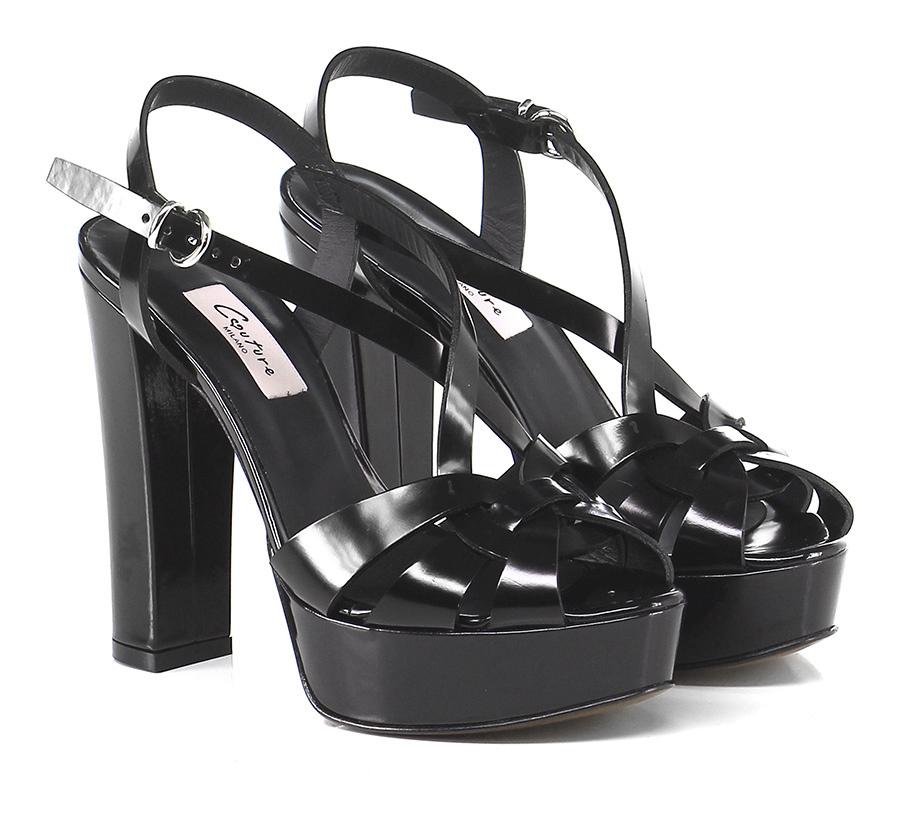 Sandalo alto Nero Verschleißfeste Couture Verschleißfeste Nero billige Schuhe 6b411d