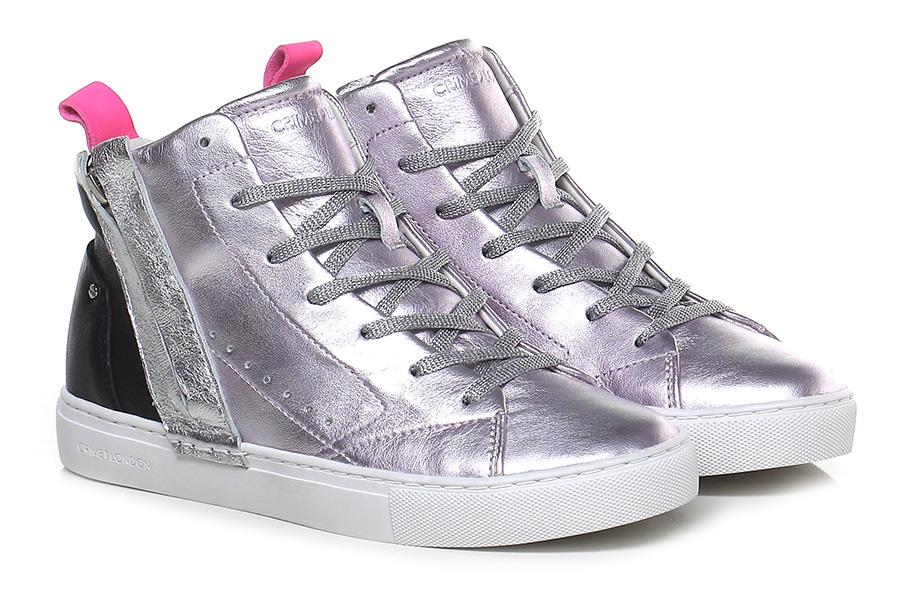 Sneaker Lilac/black/silver Lilac/black/silver Sneaker Crime Verschleißfeste billige Schuhe 3d840e