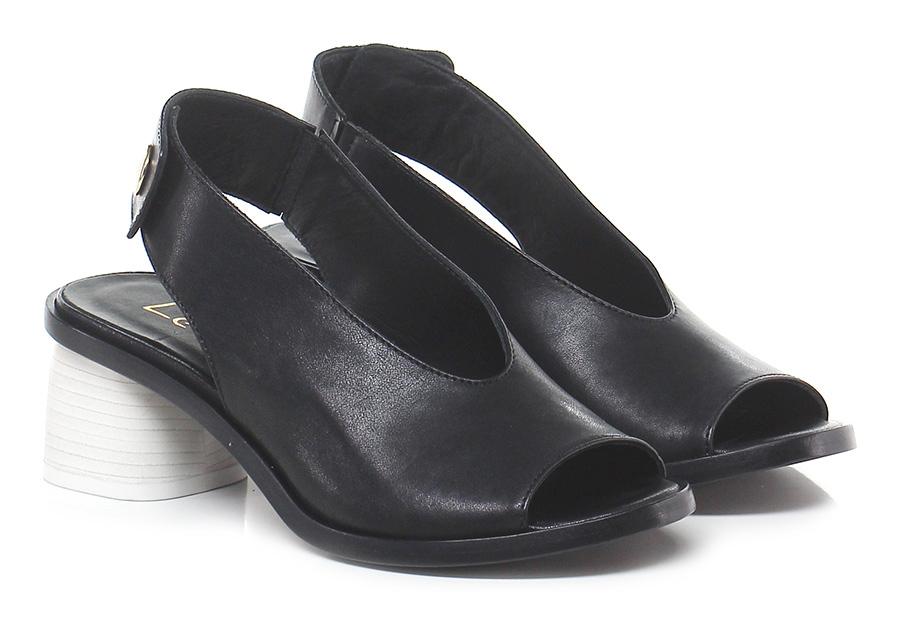 Sandalo alto Nero/bianco Lemare' Mode billige Schuhe