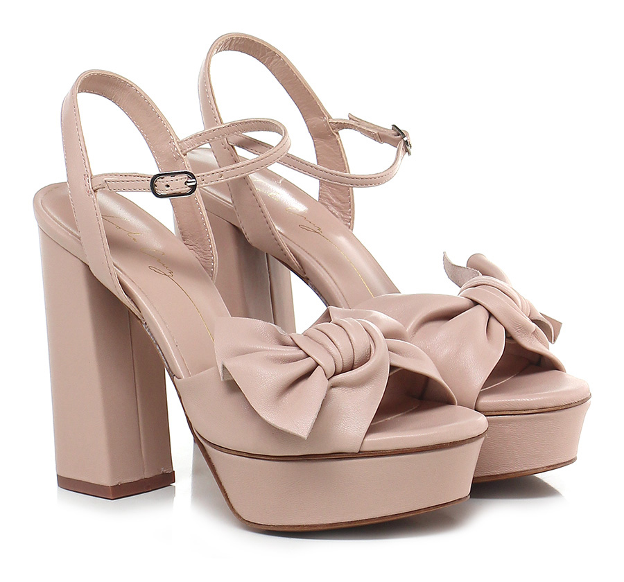 Sandalo alto Rosa Lola Cruz Mode billige Schuhe