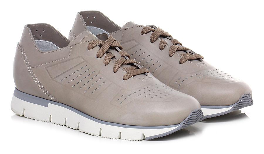 Sneaker Taupe Santoni Verschleißfeste billige Schuhe