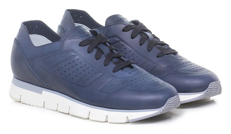 Sneaker Blue Santoni Verschleißfeste billige Schuhe