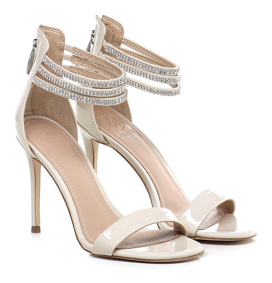 Sandalo alto Beige Guess Verschleißfeste billige Schuhe