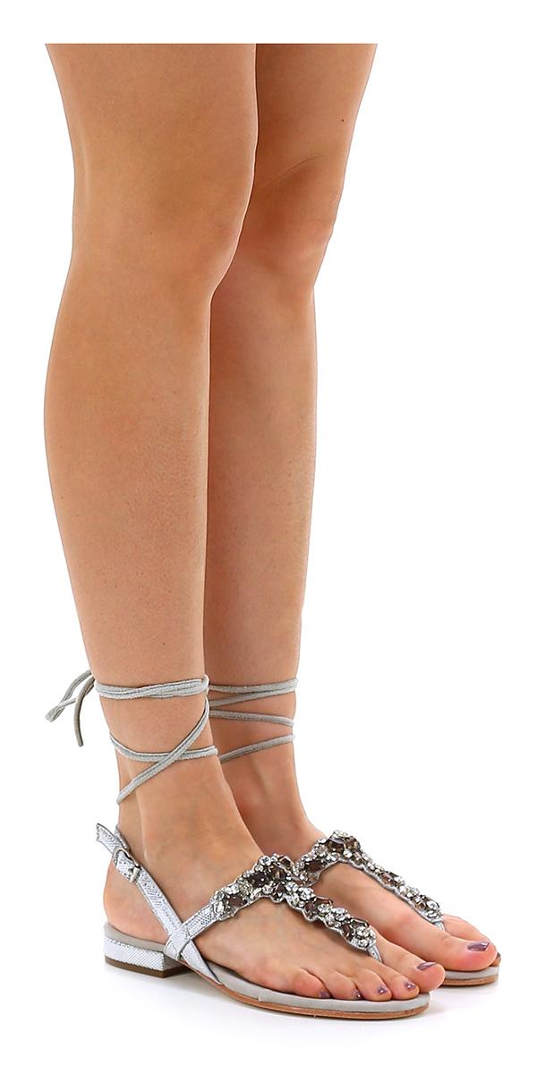 Sandalo basso billige Ghiaccio/argento Apepazza Mode billige basso Schuhe 60b925