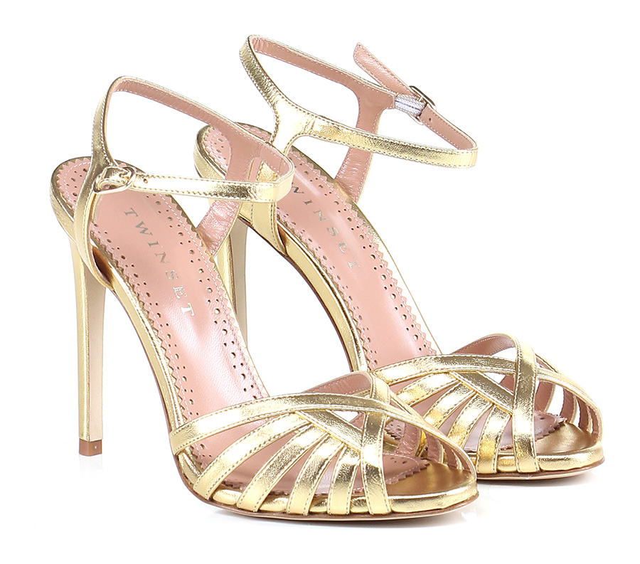 Sandalo alto Oro Twin SET Hohe Qualität