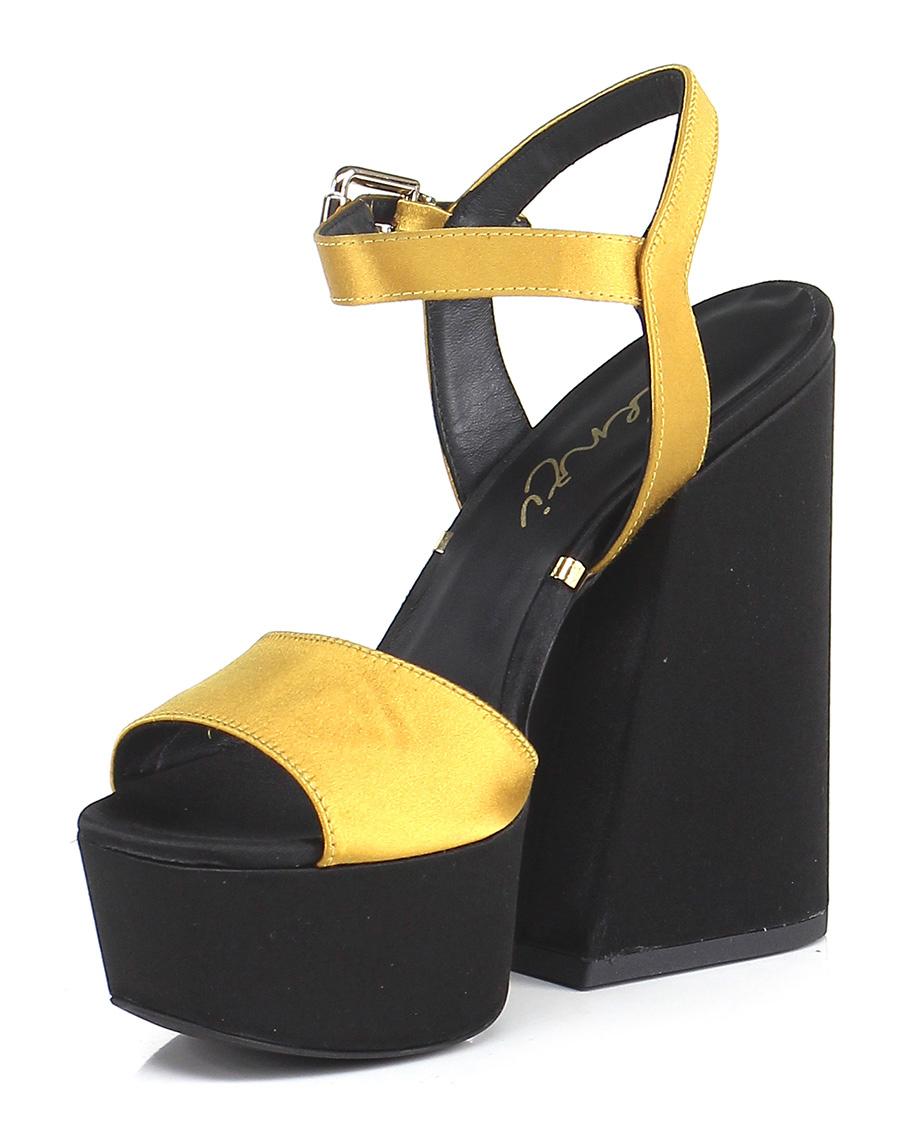 Sandalo alto Renzi Ocra/nero Renzi alto Mode billige Schuhe 649e97