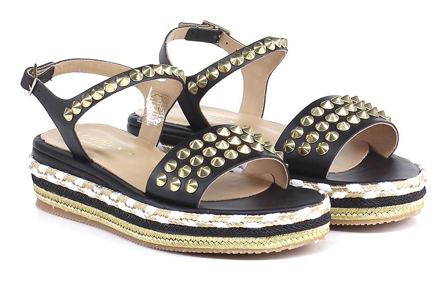 Sandalo basso Nero Fiorina Verschleißfeste billige Schuhe
