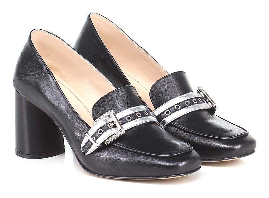 Scarpa con tacco Nero/argento Couture Scarpe economiche e buone