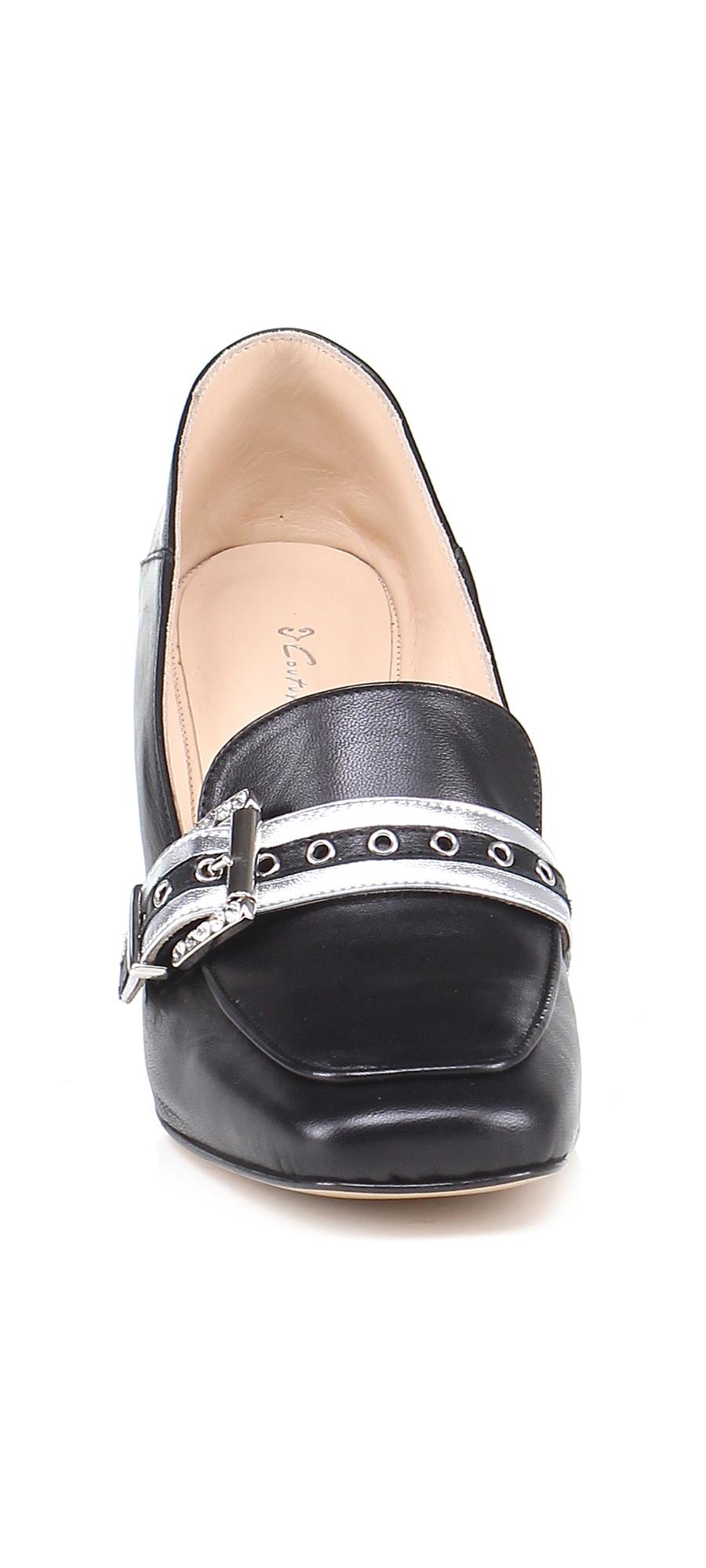 Scarpa con tacco Nero/argento Couture Couture Couture 80b087