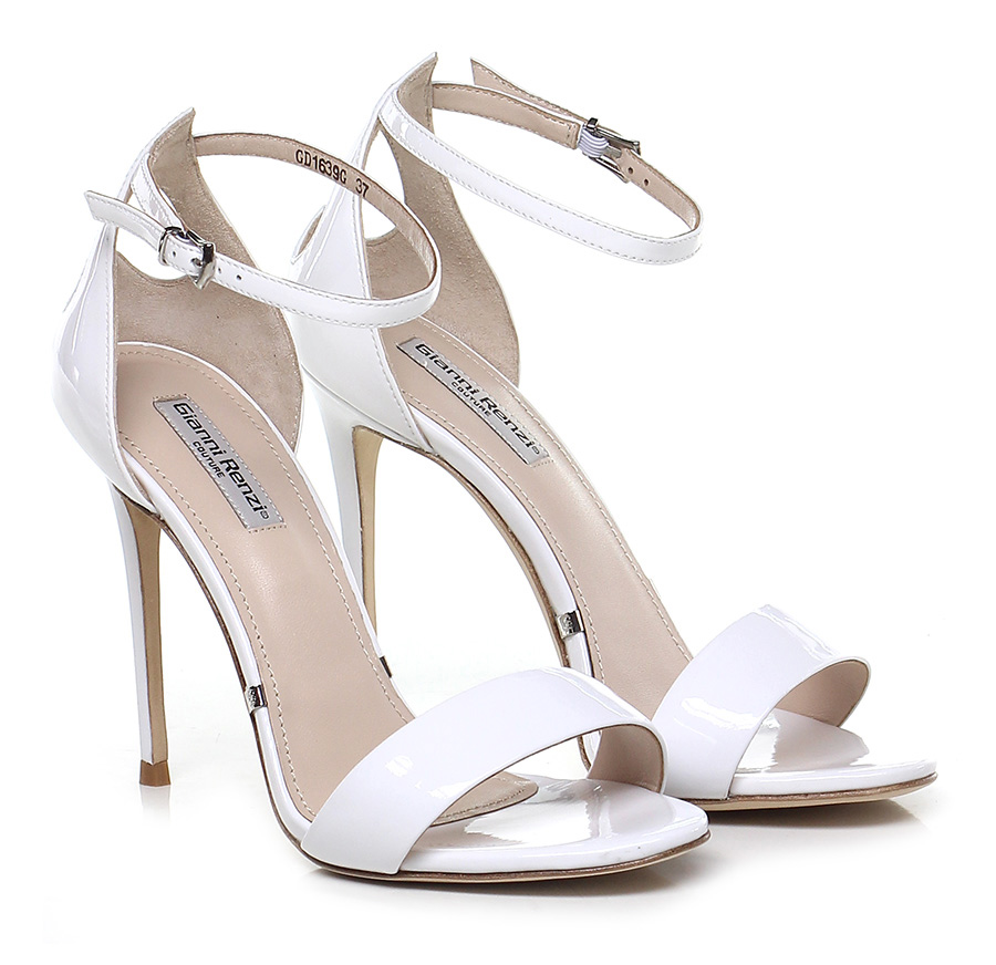 Sandalo alto Bianco Gianni Renzi Couture