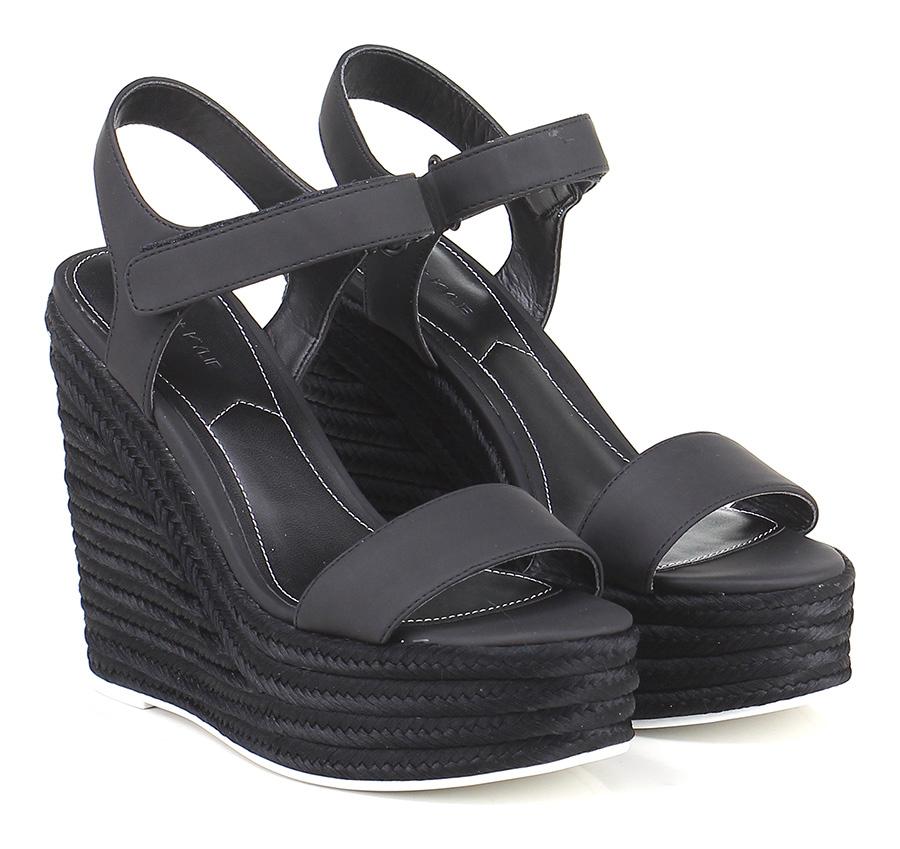 Zeppa Black Kendall Kylie Verschleißfeste billige Schuhe
