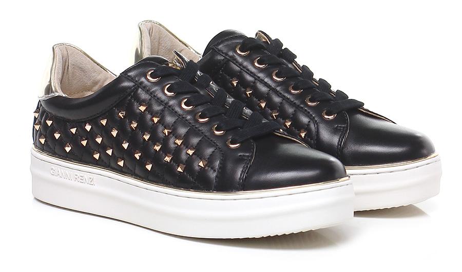Sneaker Nero/platino Gianni Renzi Couture