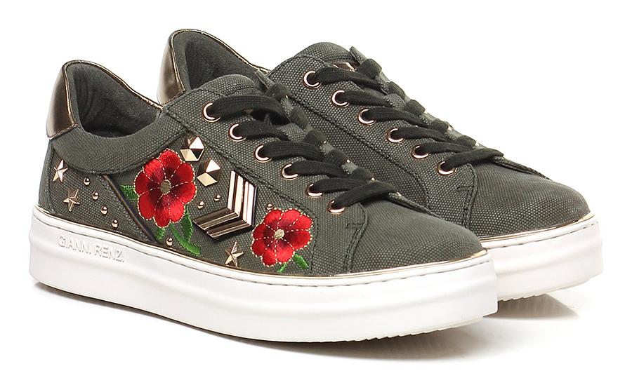 Sneaker Militare/bronzo Gianni Renzi Couture