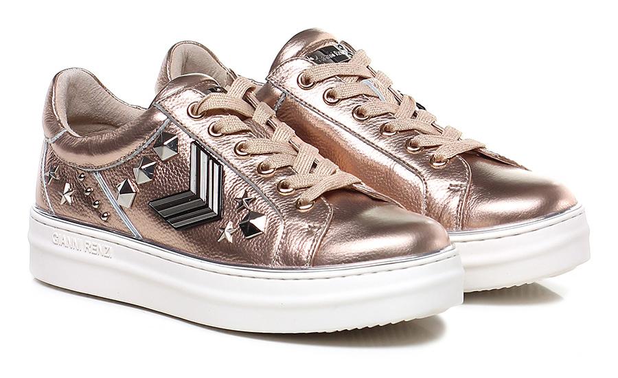 Sneaker Oro/rosa Gianni Renzi Couture