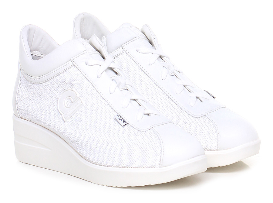 Sneaker Bianco Agile by Rucoline Hohe Qualität