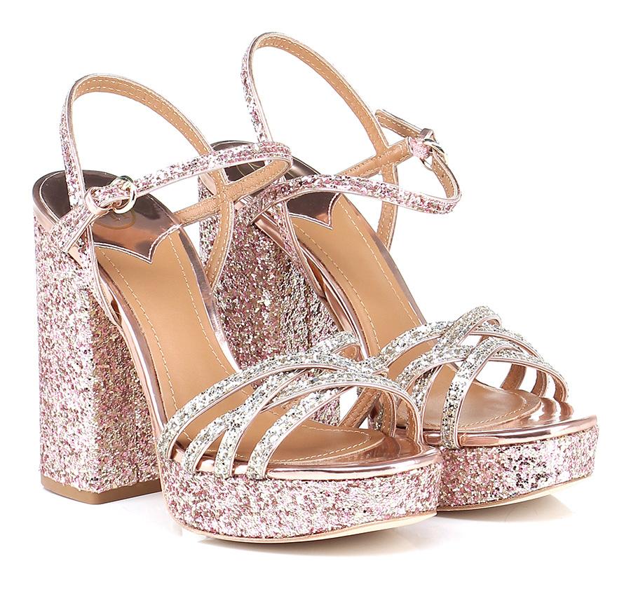 Sandalo alto Champagne/rose/gold ASH Verschleißfeste billige Schuhe