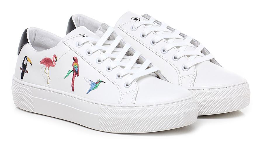 Sneaker Bianco/nero/multicolor Moa Master Of Arts
