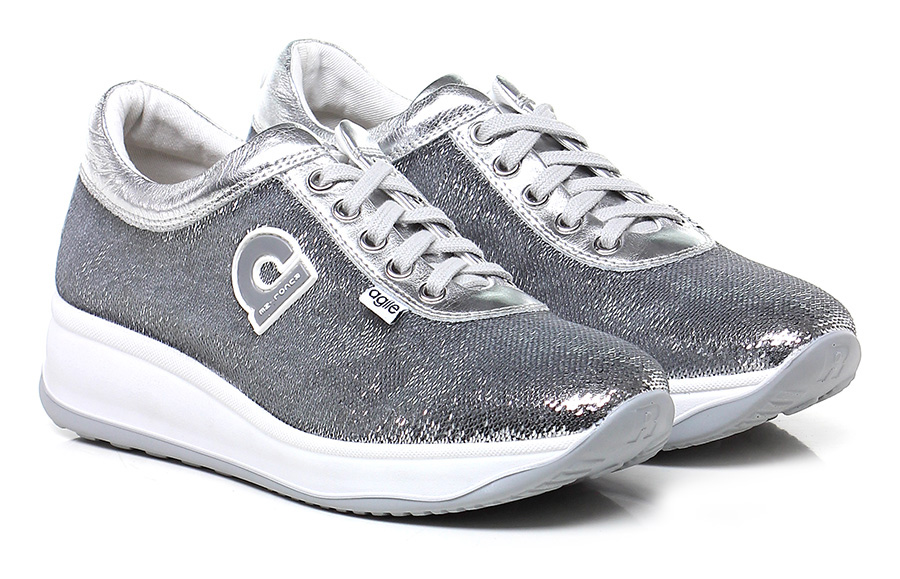 Sneaker Argento Argento Argento Agile by Rucoline 66fdcd