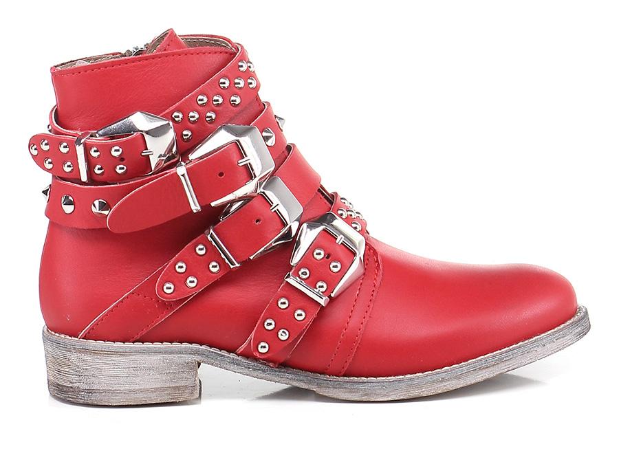 Tronchetto Rosso Soigne' Mode billige Schuhe