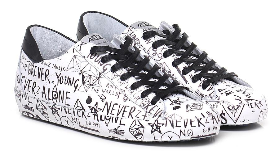 Sneaker White/black Quattrobarradodici