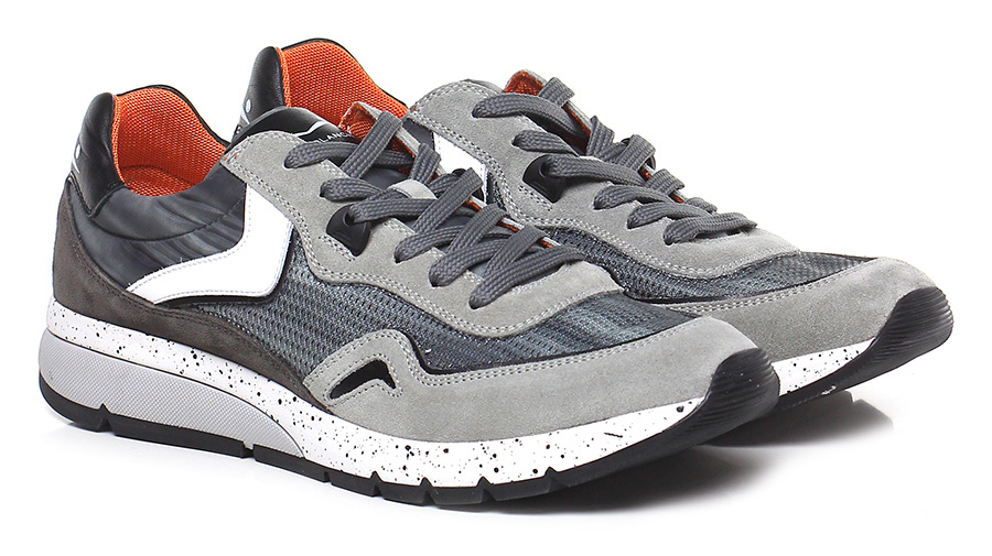 Sneaker Multigrey/brown Voile Blanche
