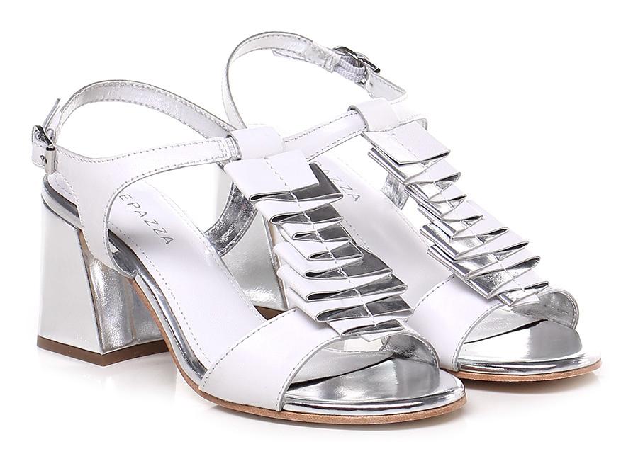 Sandalo alto  Bianco/argento Apepazza Scarpe economiche e buone