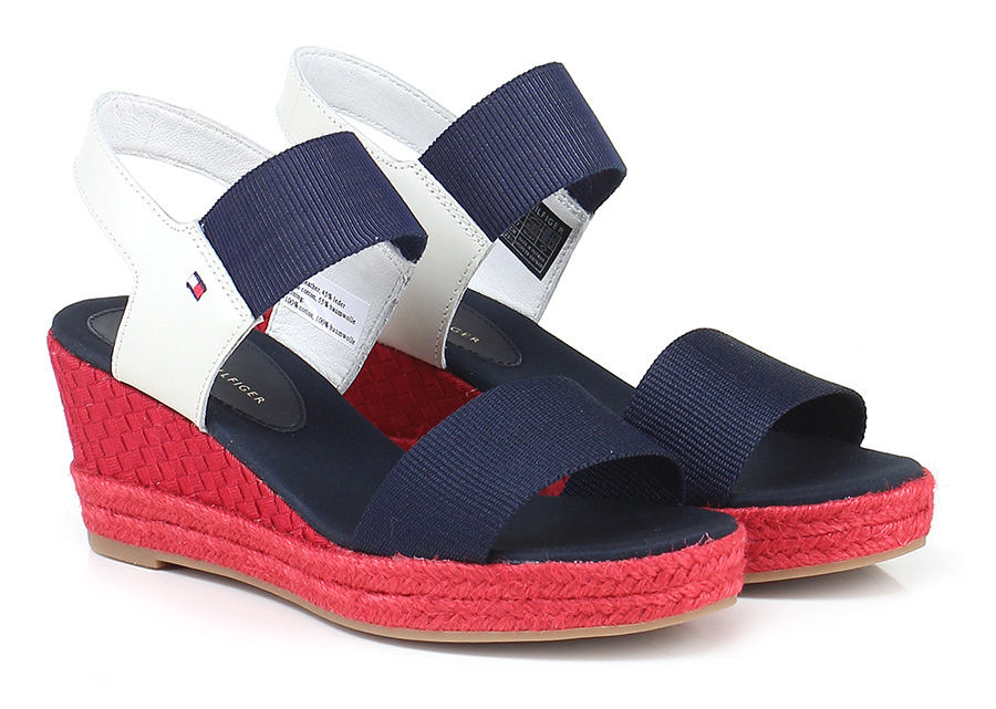 Zeppa Navy/ice/red Tommy Hilfiger Mode billige Schuhe